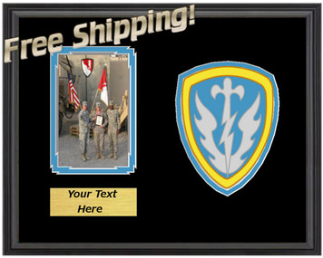 "11"" x 14"" 504th Military Intelligence Horizontal Unit Frame w/ Photo"