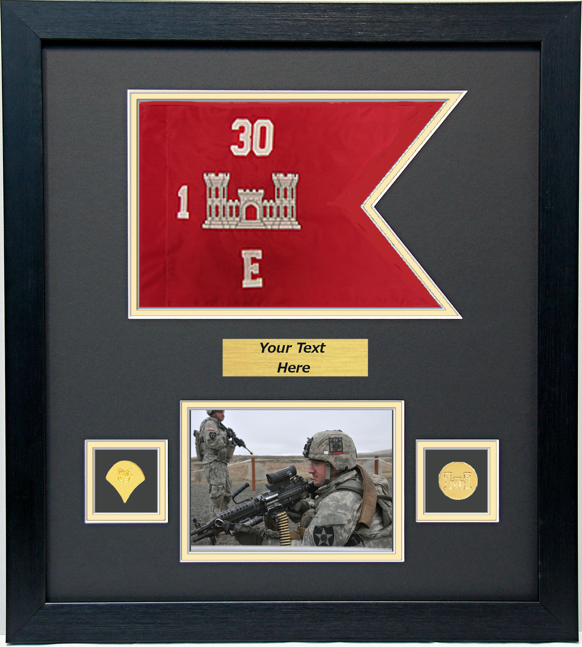 16 Quot X 18 Quot Guidon Flag Display W Photo Military Memories