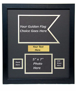 "16"" x 18"" Guidon Flag Display w/ Photo"