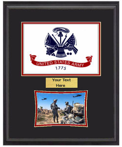 "14"" x 18"" US Army Flag Frame w/ 5"" x 7"" Photo"
