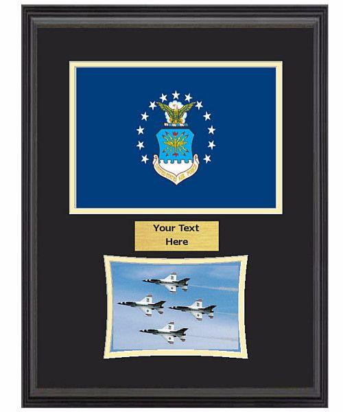 14 X 18 Us Air Force Flag Frame W 5 X 7 Photo Military
