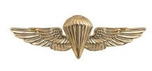 Navy/Marine Corps Badge: Parachutist- regulation, mirror finish