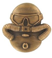 Marine Corps Badge: Combatant Divers - antique gold, regulation size