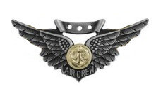 Marine Corps Badge: Combat Air Crew - regulation size oxidized finish
