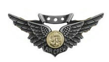 Marine Corps Badge: Combat Air Crew - regulation size oxidized finish