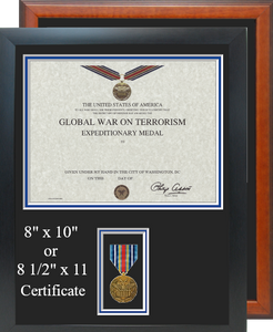 Global War On Terrorism Expeditionary Certificate Frame