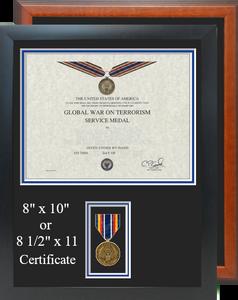 Global War On Terrorism Service Medal Certificate Frame