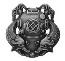 Badge: Diver First Class - regulation, oxidized