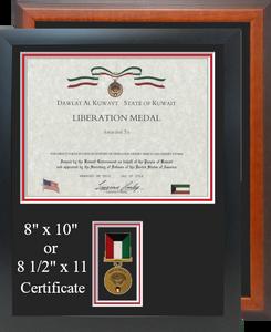 Kuwait Liberation Certificate Frame