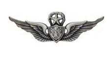 Army Badge: Master Aircraft Crewman: Aircrew - silver oxidized