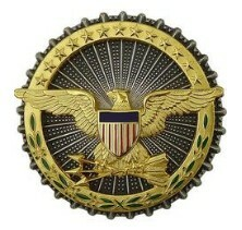 Army Identification Badge: Secretary of Defense - oxidized