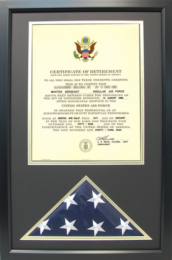 "20"" x 24"" Certificate of Retirement"