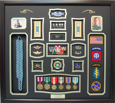 82nd Airborne Division Shadow Box Display