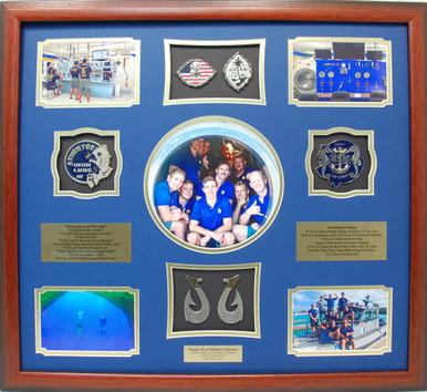 Guam Naval Dive Locker Master Diver Shadow Box Display