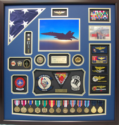 US Navy CDR Pilot Shadow Box Display