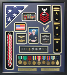 US Navy Commander Shadow Box Display