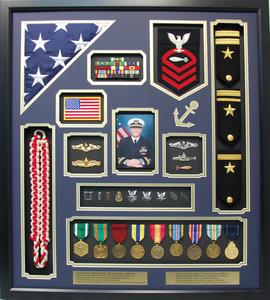 US Navy Commander Shadow Box Display