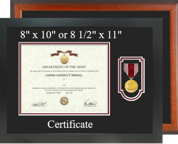 Army Good Conduct Certificate Frame - Horizontal