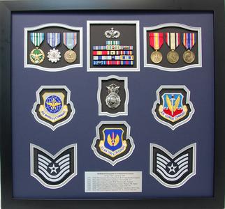 USAF Tech Sergeant Shadow Box Display