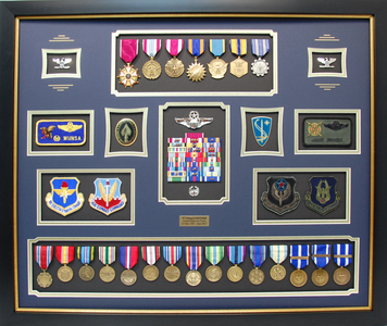 USAF Colonel Shadow Box Display