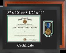 Army Achievement Certificate Frame - Horizontal