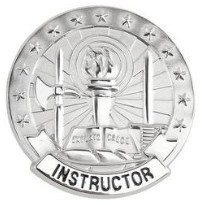 Army Identification Badge: Basic Instructor - Silver