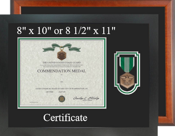 Army Commendation Certificate Frame - Horizontal