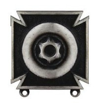 Army Badge: Driver and Mechanic - silver oxidized