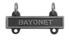 Army Qualification Bar: Bayonet - silver oxidized finish