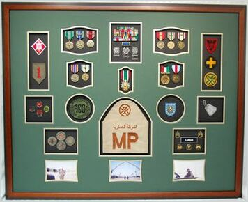 "32"" x 40"" US Army Military Police Shadow Box Display Case"