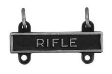Army Qualification Bar: Rifle - silver oxidized finish