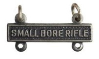 Army Qualification Bar: Small Bore Rifle - silver oxidized finish