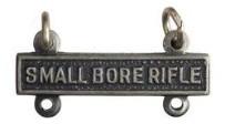 Army Qualification Bar: Small Bore Rifle - silver oxidized finish