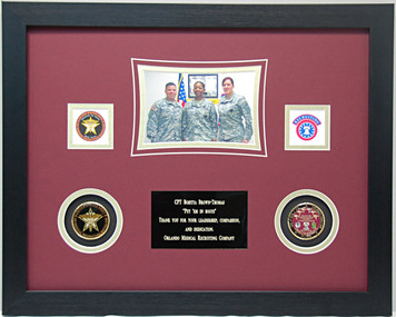 "12"" x 16"" US Army Medical Recruiter Ceremony Display Frame"
