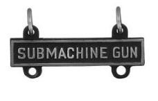 Army Qualification Bar: Sub-Machine Gun - silver oxidized finish
