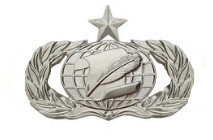 Air Force Badge: Administration: Senior - regulation size