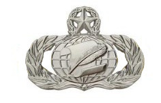 Air Force Badge: Administration: Master - regulation size
