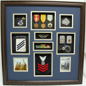 "24"" x 28"" US Navy Security Intelligence Shadow Box Display Case"