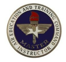 Air Force Badge: Air Education and Training Command: Master Instructor