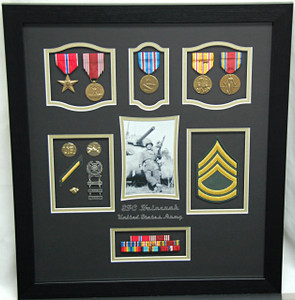 "16"" x 20"" US Army Tank Armor Shadow Box Display Case"