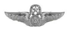 Air Force Badge: Aircrew: Master