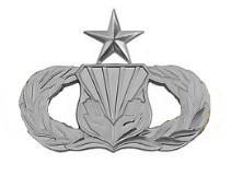 Air Force Badge: Chaplain Assistant: Senior - regulation size