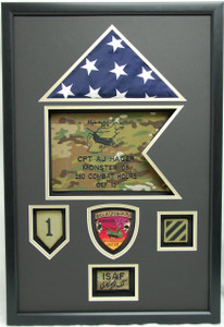 "19"" x 29"" US Army ISAF Shadow Box Display Case"