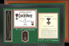 "17"" x 26"" Double Certificate H/V Frame w/ Shoulder Cord or Coins & Medal"