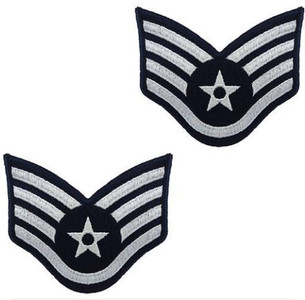 Air Force Embroidered Chevron: Staff Sergeant - color