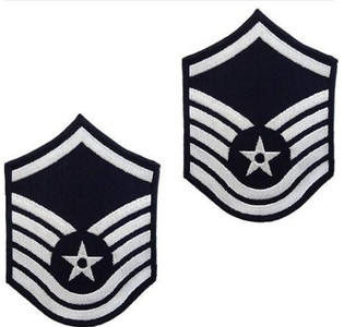 Air Force Embroidered Chevron: Master Sergeant - color
