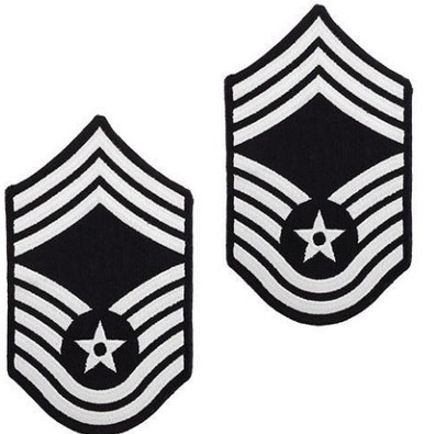 Air Force Embroidered Chevron: Chief Master Sergeant - color