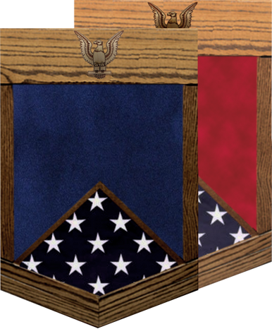 US Navy E-5 Chief Petty Officer 2nd Class Shadow Box w/ Flag Window