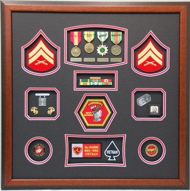 United States Marine CPL Display