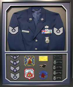 Air Force Jacket Shadow Box Display